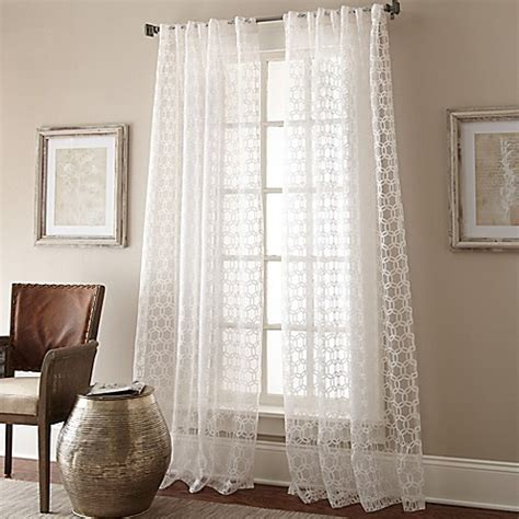 curtains with circles buy strie circles 108 inch lined window panel in sheer