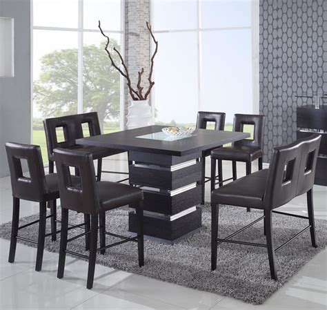 Black Counter Height Dining Table And Chairs High Top Dining Table And Chairs 9 U203a Counter Height Dining Table Dining Room 9