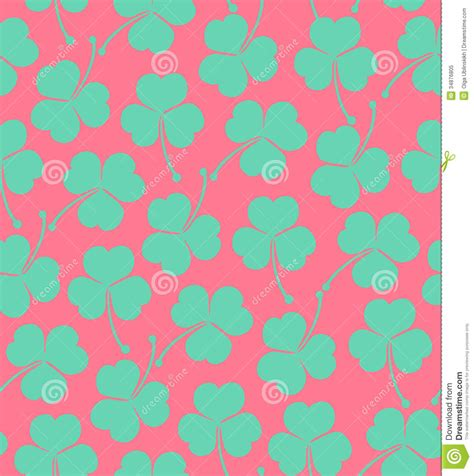 cute pattern texture seamless cute pattern with clover trefoil endless