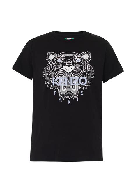 Tshirt White Tiger kenzo tigerprint tshirt in black lyst