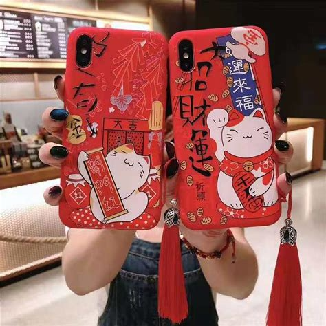 xs max  iphone xs max xr fashion chinese lucky cute cat