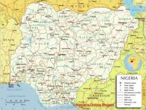 map of showing geography nigeria maps 36 states and abuja