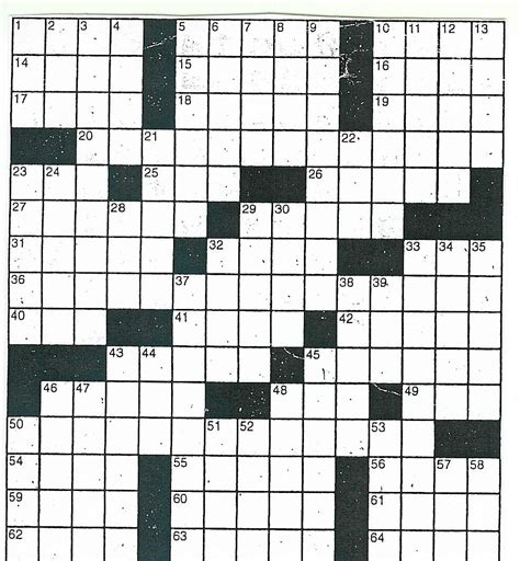 Crossword Puzzle Template Printable by 4 Best Images Of Printable Crossword Puzzle Blank