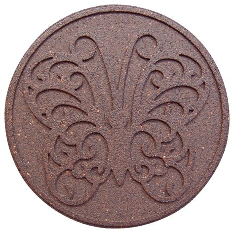 decorative stepping stones home depot envirotile round decorative terra cotta step stone 18 inch 2 pack the home depot canada