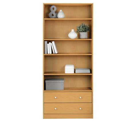 buy home maine 2 drawer bookcase beech effect