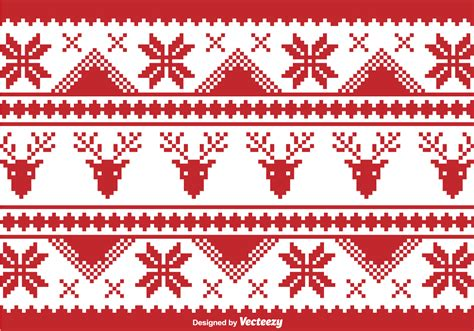 christmas pattern border christmas traditional pixel border download free vector