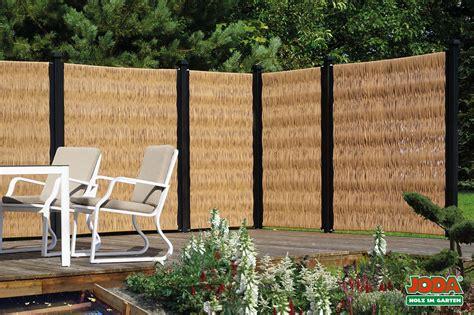 Terrasse 1 Meter Hoch by Sichtschutz Mit Granitstelen Palisaden Aus