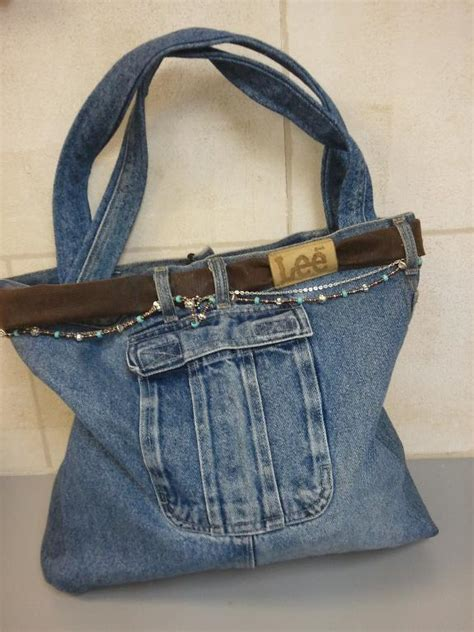 jeans handbag pattern you have to see recycled jean purse on craftsy