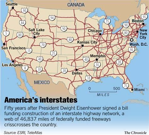 freeway map of usa the interstate highway system at 50 america in fast