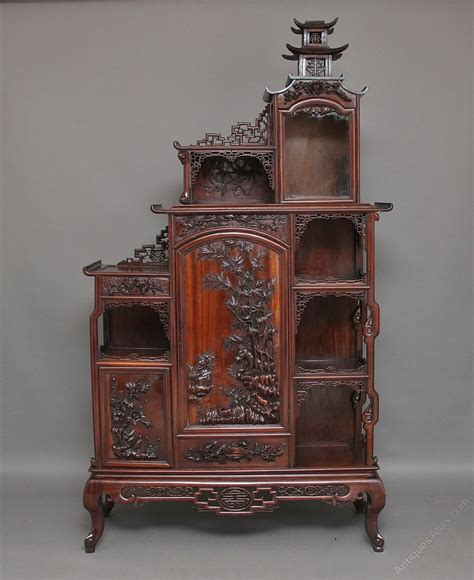 rosewood china cabinet for sale 19th century chinese rosewood cabinet antiques atlas