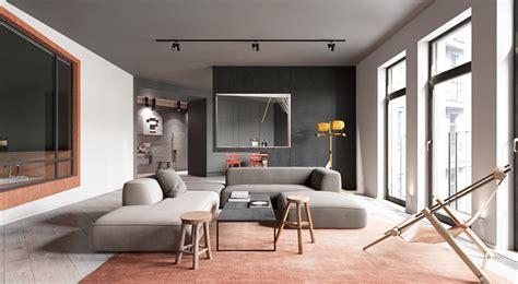 sleek apartment interior design  modern  unique