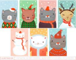 free printable christmas cat gift tags printable gift tags page 3