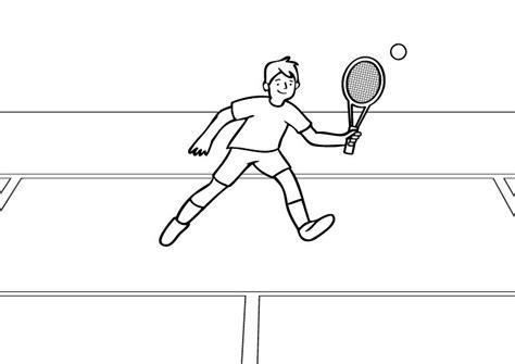 imagenes de niños jugando tenis para colorear tenis dibujo para colorear e imprimir