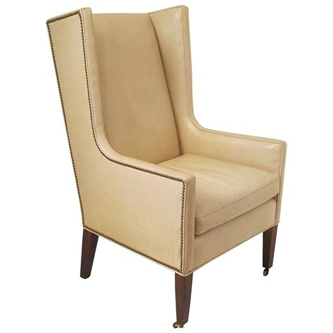 wingback bench leather wingback chair at 1stdibs