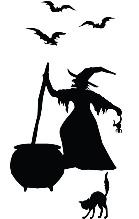 Witch Silhouette Images witch silhouette vinyl sticker creating home