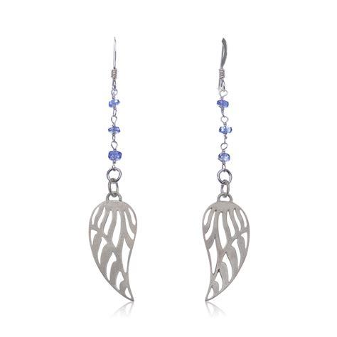 Wing Earrings tanzanite wing earrings
