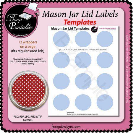 craft label templates jar lid label templates sm by boop printable designs printable paper craft templates at boop