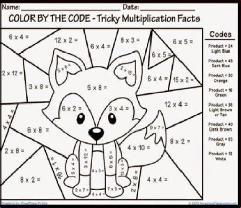 Multiplication Mystery Picture Worksheets by Search Results For Free Multiplication Color By