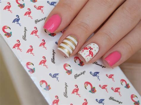 Flamingo Nail Sticker by Pink Flamingo Nail Water Decals Flamingo Nail Stickers