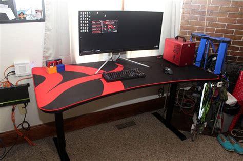 Gaming Desk Setup Ideas Arozzi Arena Gaming Desk Lanoc Reviews