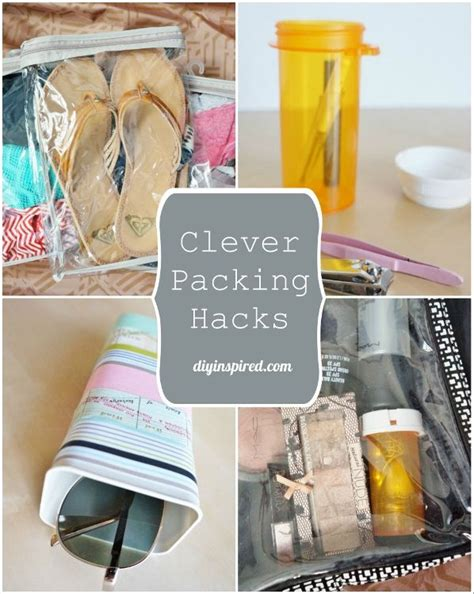Thrifty Clever clever and thrifty suitcase packing hacks packing hacks