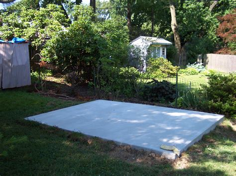 Cement Pad For Shed by Concrete Slab Mega Storage Sheds