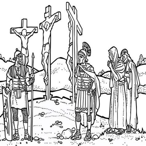 coloring pages jesus crucifixion friday coloring pages depiction of jesus crucifixion