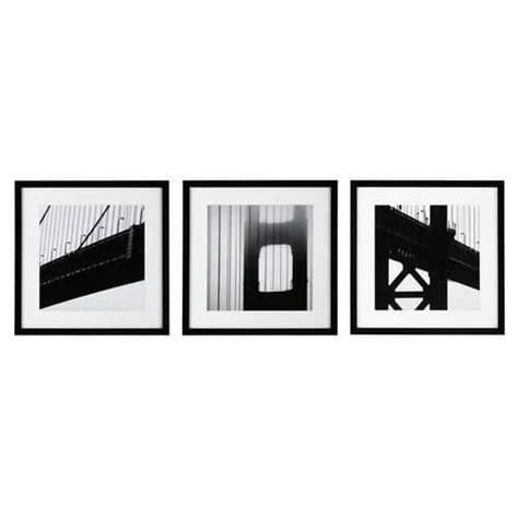 cornici nere 3 cornici bianche e nere in legno ny bridge maisons du monde