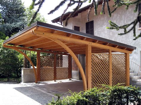 tettoia per auto tettoia per auto in legno lamellare r02110