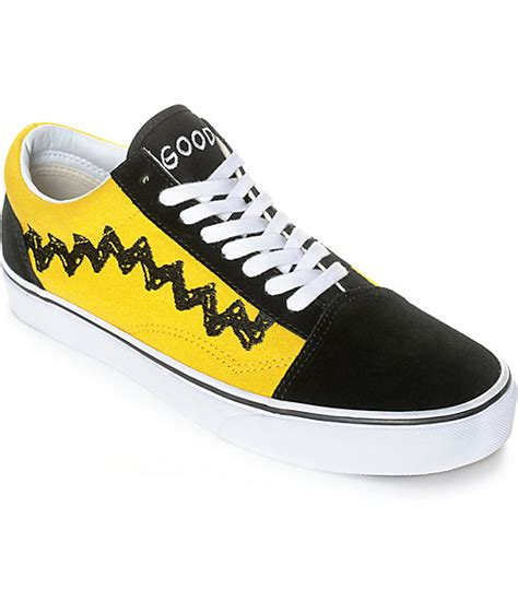 Sepatu Vans X Peanuts vans x peanuts skool brown skate shoe zumiez