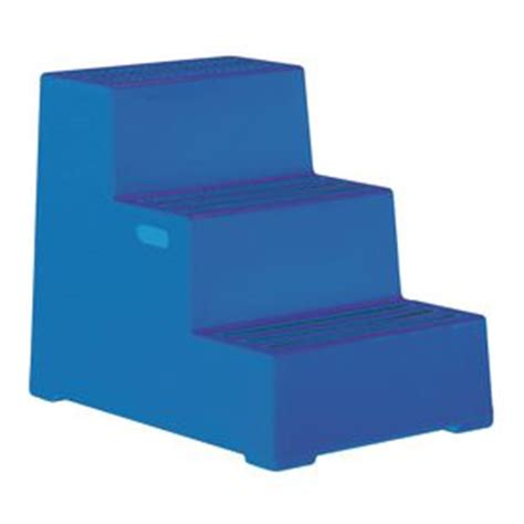 Plastic 3 Step Stool by Plastic Safety Steps 3 Step 12 Month Guarantee Free