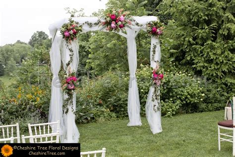 Wedding Arch With Hanging Flowers by Fabric Arch With Flowers Wedding Stuff