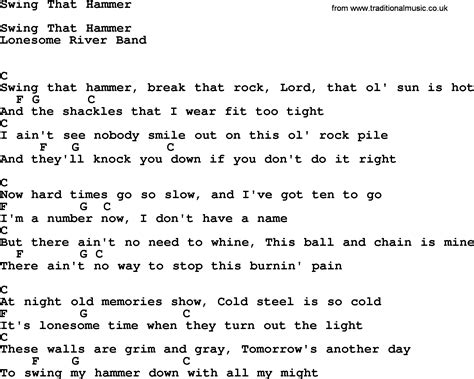 swing on this lyrics swing that hammer bluegrass lyrics with chords