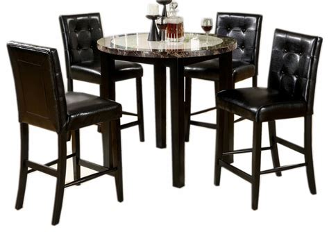 Black Marble Dining Table Set Dining Set Faux Marble Table Top Black Leath And Homelegance Dearborn Dining