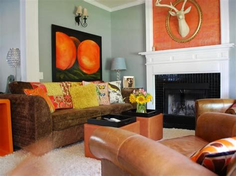 Living Room Ideas Orange And Brown by Burnt Orange And Brown Living Room Ideas Home Design