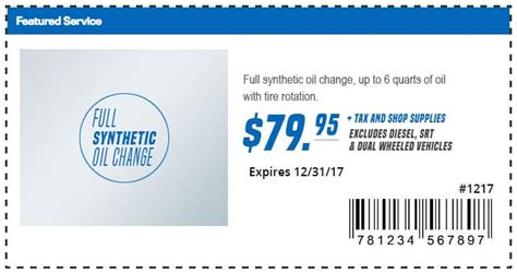 Chrysler Change Coupons by Mopar Coupons