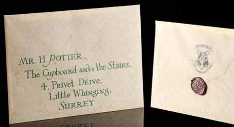 harry potter letter 2 props could fetch up to 2 million at auction 1276