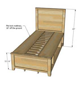 Easy Bed Frame With Storage White Build A Hailey Storage Bed Free And