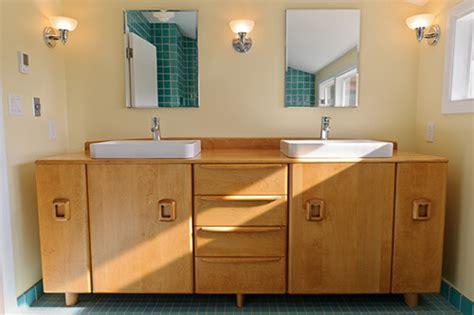midcentury modern  retro style bathroom vanities