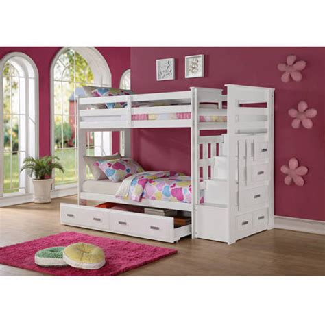 Bunk Bed Age Recommendations On Me 2 In 1 Bunk Bed Mahogany Box 1 Of 3 Walmart