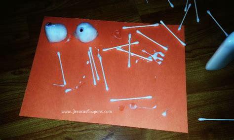 Construction Paper Crafts For Kids Home - frugal halloween crafts for kids cotton ball amp cotton swab skeleton