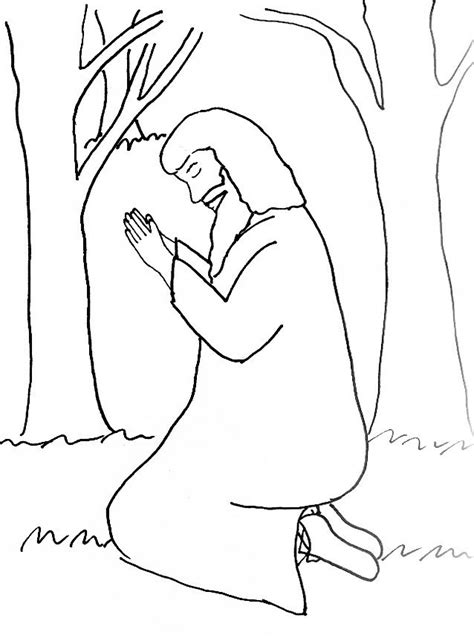 coloring pages jesus in gethsemane bible story coloring page for the garden of gethsemane