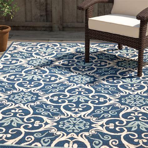 carleton navy area rug by alcott hill alcott hill carleton navy indoor outdoor area rug