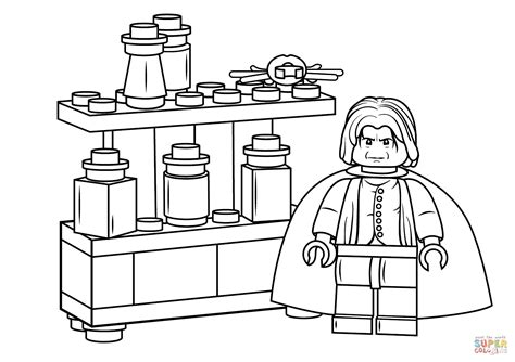 harry potter coloring book tutorial lego severus snape coloring page free printable coloring