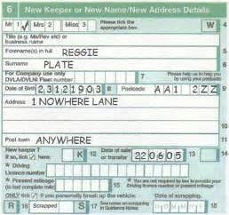 new car registration document v5c section 6 new keeper vehicle registration transfer