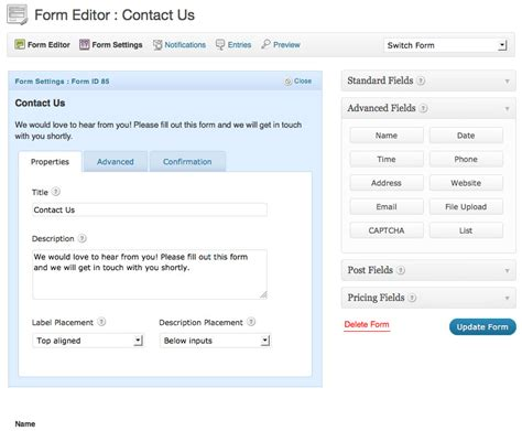 wordpress forms gravity forms contact form builder and