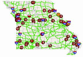 modot road closure map missouri department of transportation