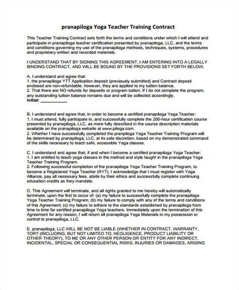 teacher contract templates  word  format   premium templates