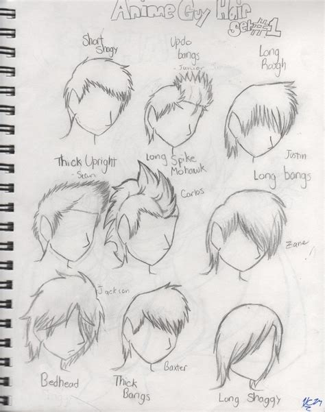 anime hairstyles for guys side view anime guy hair set by tomcolt15 on deviantart