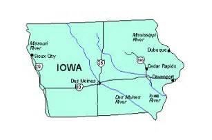 us map iowa iowa us state powerpoint map highways waterways capital
